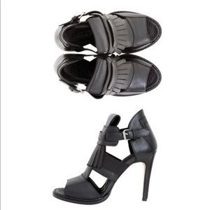 Designer - Leather Fringe Stiletto Heels